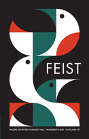 Feist, music poster, art, dan stiles, limited edition