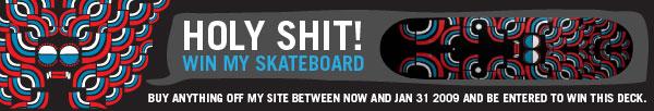 dan stiles, skate deck, giveaway, poster art